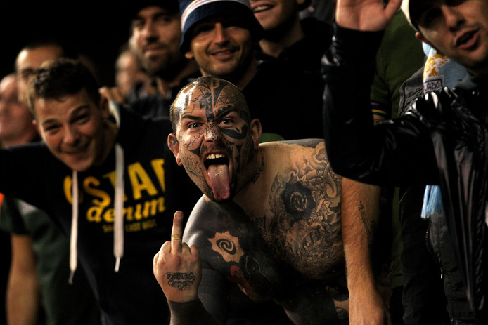Fans van Lazio Roma.