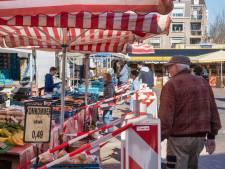 Met linten, markeringen en dranghekken kan het wél: 'Geen markt was niet denkbaar voor Ede'