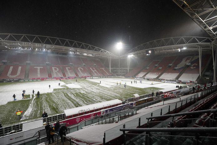 Stadion Galgenwaard zaterdagavond.