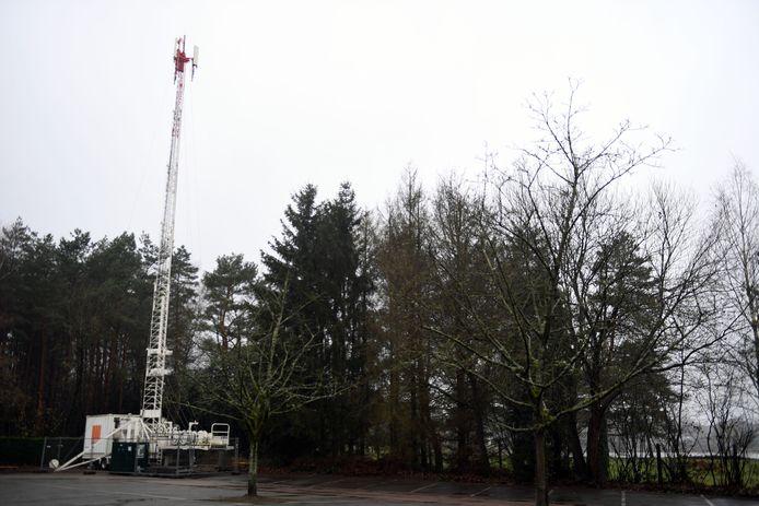 De mobiele zendmast aan The Lake in Keerbergen.