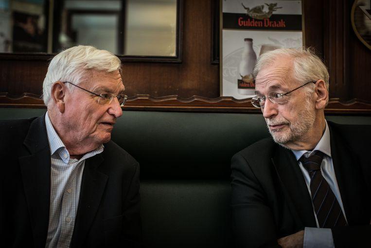 Walter Zinzen en Rik Van Cauwelaert. Beeld Bas Bogaerts