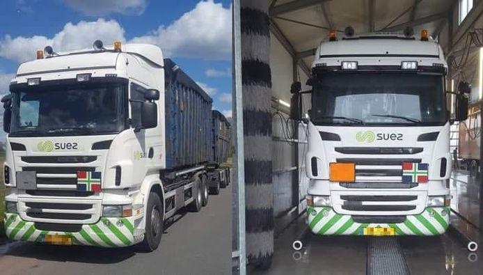 De vuilniswagen die onlangs werd gestolen van een gesloten parkeerterrein in Assen, is weer terecht.