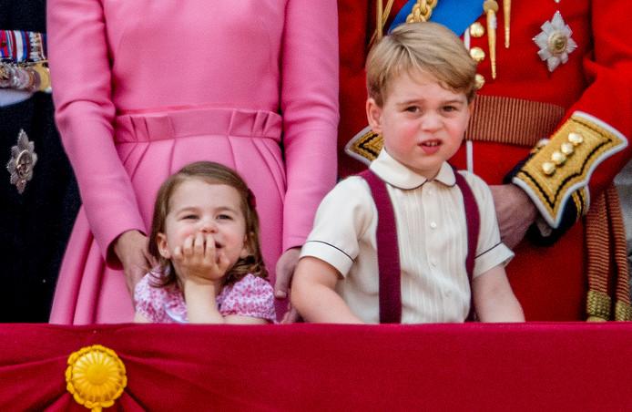 Prinses Charlotte en prins George.