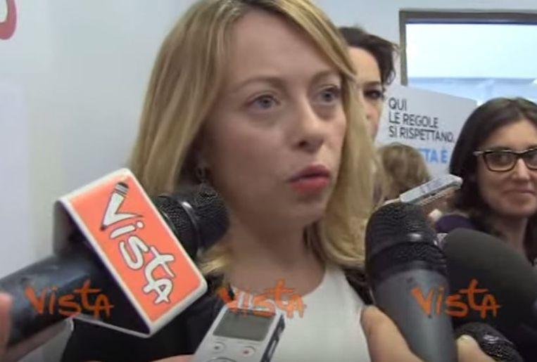 Rachele Mussolini. Beeld Vista / YouTube