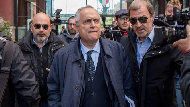 Lazio-voorzitter 12 maanden geschorst voor schenden coronaregels