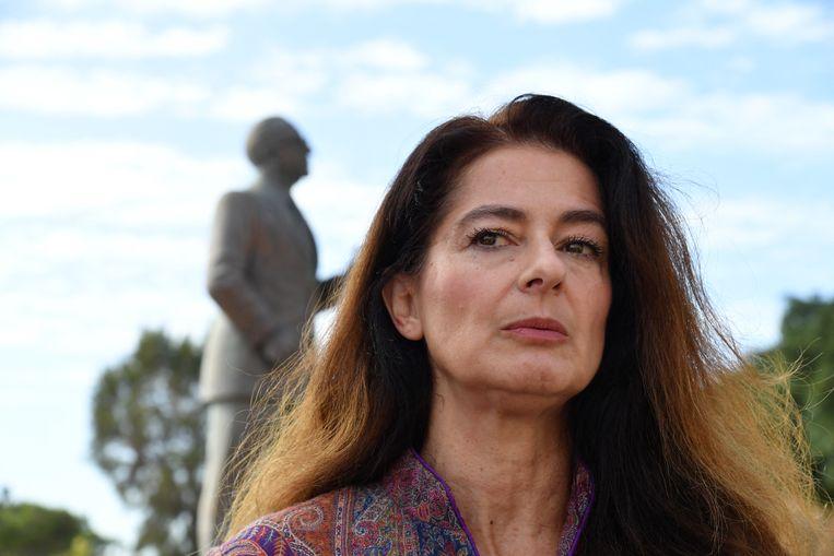 Corine Vella, zus van de vermoorde journaliste Daphne Caruana Galicia.  Beeld AFP