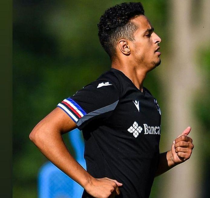 Mohamed Ihattaren in actie bij Sampdoria.