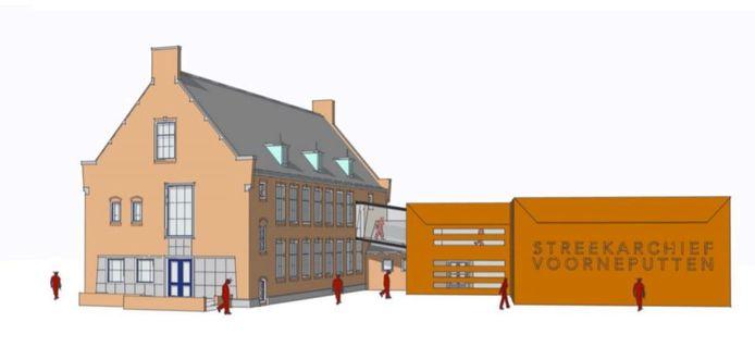 Nissewaard wil het Streekarchief achter het oude gemeentehuis in Spijkenisse vestigen.