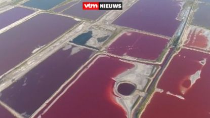 Zien om te geloven: Chinees zoutmeer kleurt rood en paars