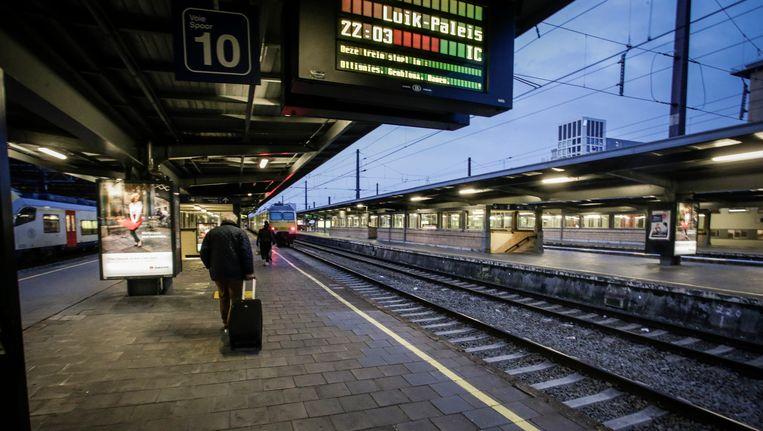 Gisterenavond startte de staking die ook vandaag merkbaar is in Vlaanderen. Beeld BELGA