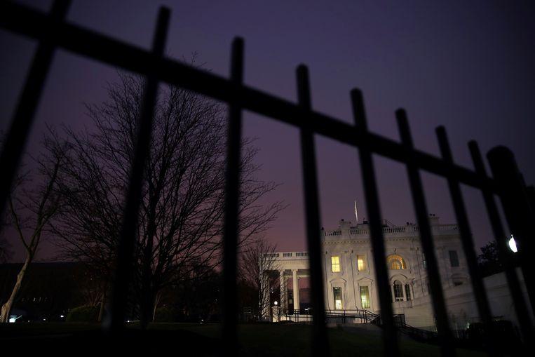 Het Witte Huis, een dag na de inhuldiging van president Trump. Beeld REUTERS
