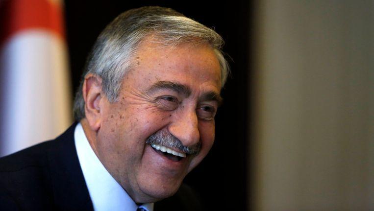 De Turks-Cypriotische leider Mustafa Akinci. Beeld AP