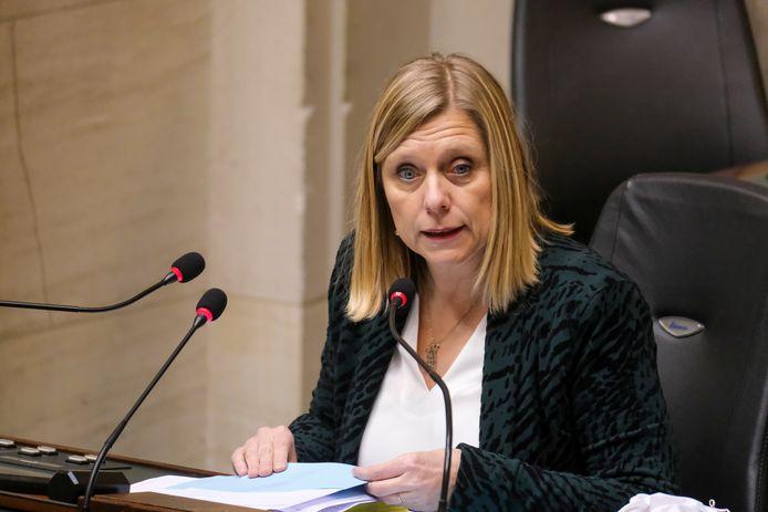 Kamervoorzitster Eliane Tillieux.