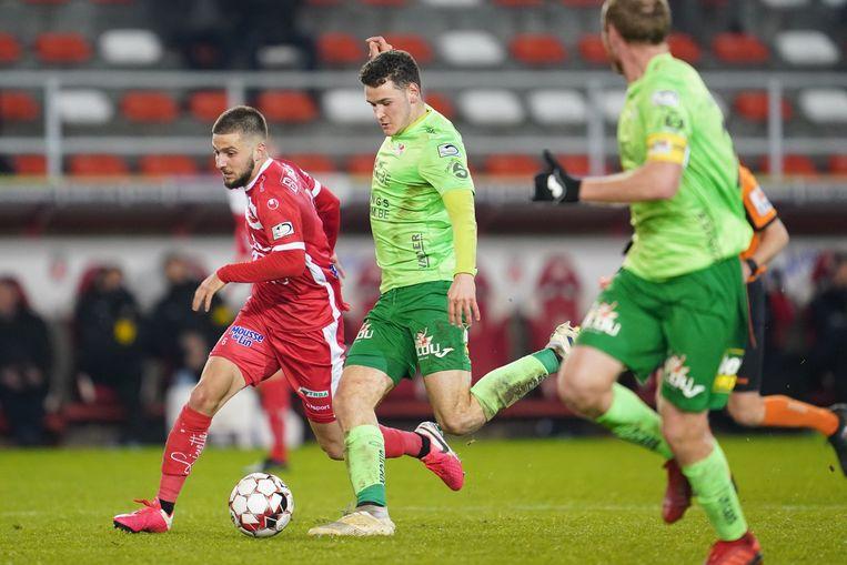 Louis Verstraete speelde in Moeskroen zijn eerste match in 2020.