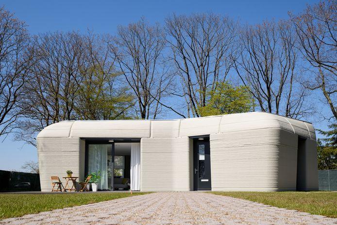 Het ge-3D-printe huis in Eindhoven