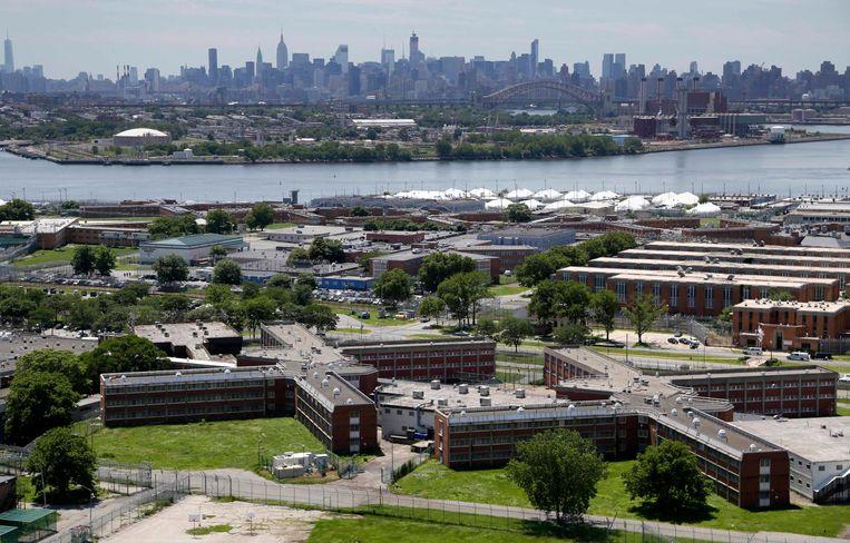 Het gevangeniscomplex van Rikers Island. Beeld ap