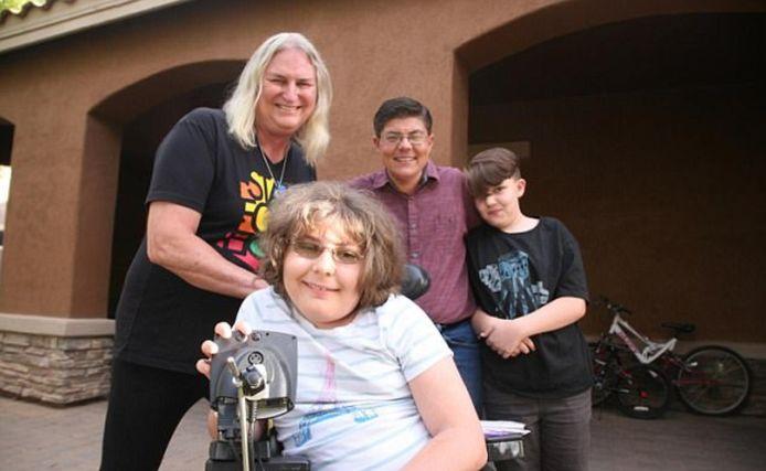 Shirley, Joshua, Daniel en Mason (v.l.n.r.).