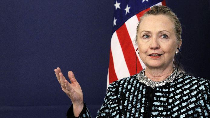 Hillary Clinton wil de sancties verscherpen.