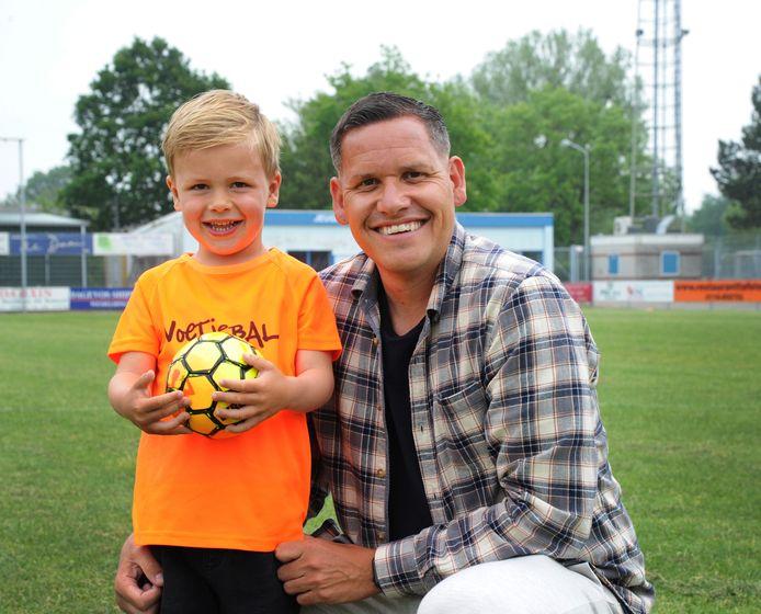 Niels Slager met zoontje Benja.