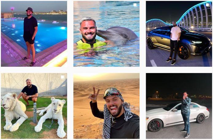 Onder meer op Instagram laat Paul A. iedereen meegenieten van zijn extravagante levensstijl.