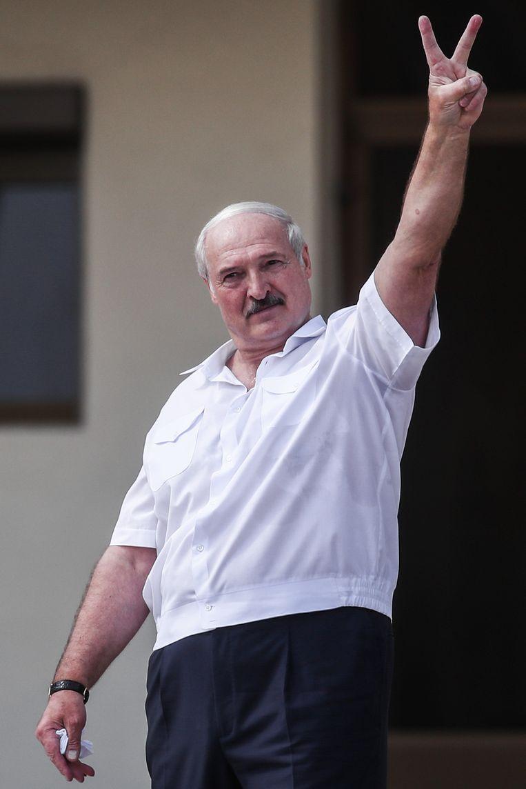President Alexander Loekasjenko op 16 augustus 2020.  Beeld Valery Sharifulin/TASS