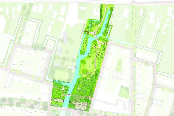 Het toekomstige  voedselbos in Rijnvliet.