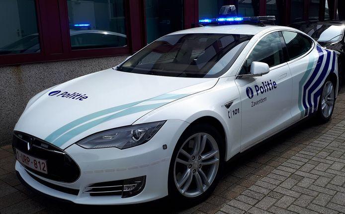 Twee jaar geleden nam de Zaventemse politie ook al deze Tesla in gebruik.