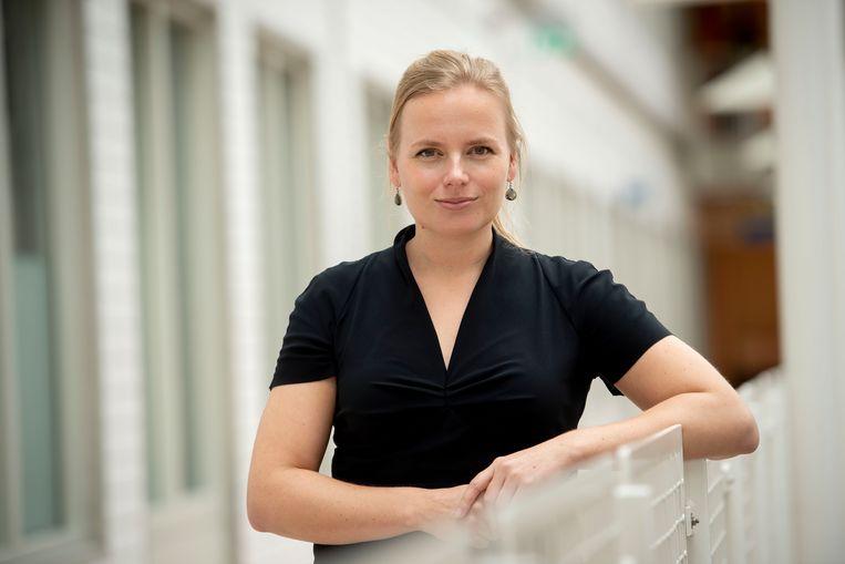 Onderzoeker Marije Hofstra van het UMC Utrecht verwacht dat de sneltest een grote bijdrage zal leveren aan het testproces. Beeld UMC Utrecht