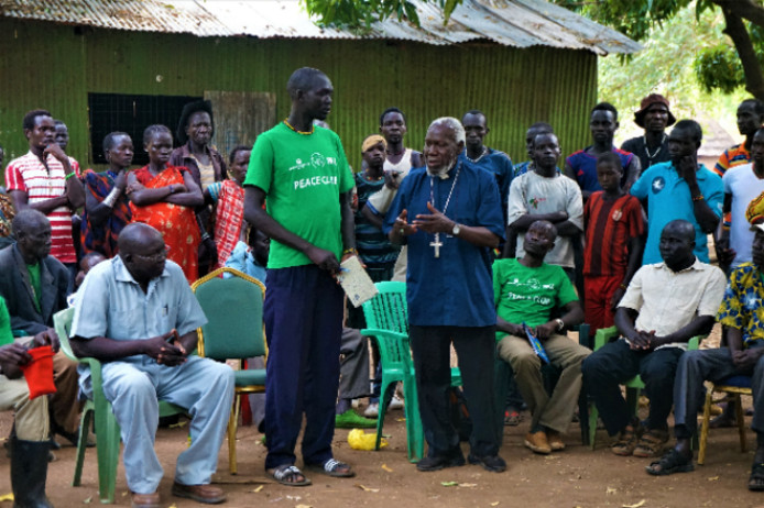 De Vredesacademie in Kuron waar Paride Taban jongeren van verschillende etnische komaf gezamenlijk laat leren en werken. Foto: Eva Gerritse