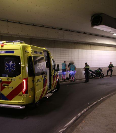 Motorrijder komt ten val in Haagse Koningstunnel, weg richting Scheveningen enige tijd afgesloten