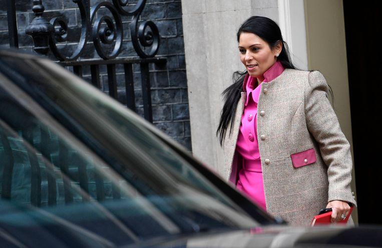 De Britse minister van Binnenlandse Zaken, Priti Patel. Beeld Neil Hall / EPA