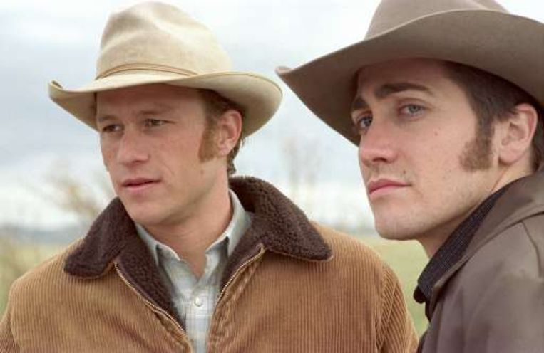 Heath Ledger en Jake Gyllenhaal in 'Brokeback Mountain'