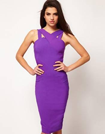 Paarse jurk bij Asos.com