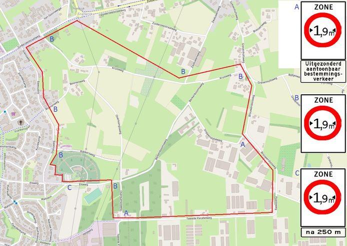 Het westelijk deel van de Enk tussen Hierden en Harderwijk wordt verboden gebied voor auto's van breder dan 1,90 meter.