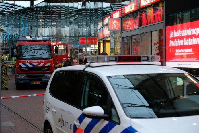Een deel van het Stadshart is afgesloten door een brandje in de Kruidvat.