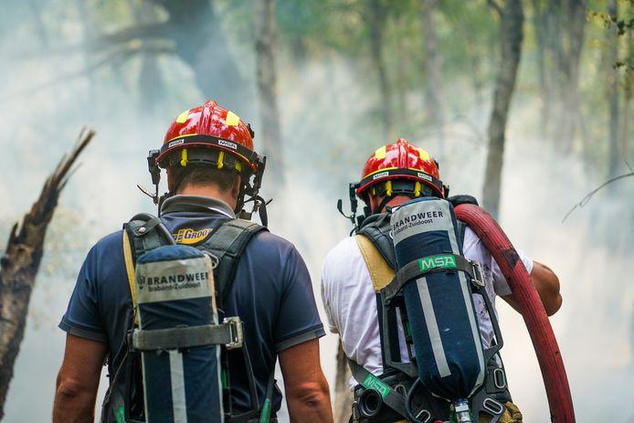 De brand in de Deurnsche Peel laaide opnieuw op