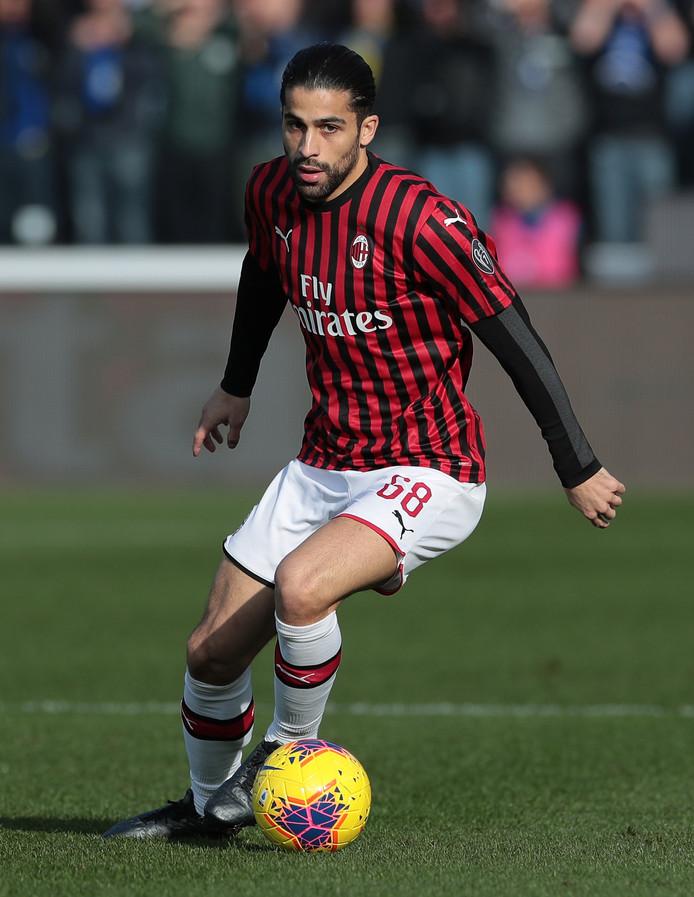 Ricardo Rodríguez in het shirt van AC Milan