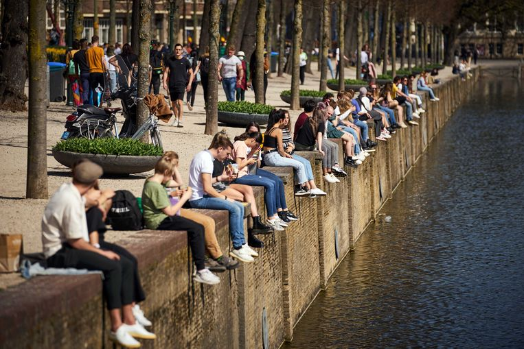 Veel Nederlanders genoten dinsdag en woensdag van het lenteweer. Beeld ANP