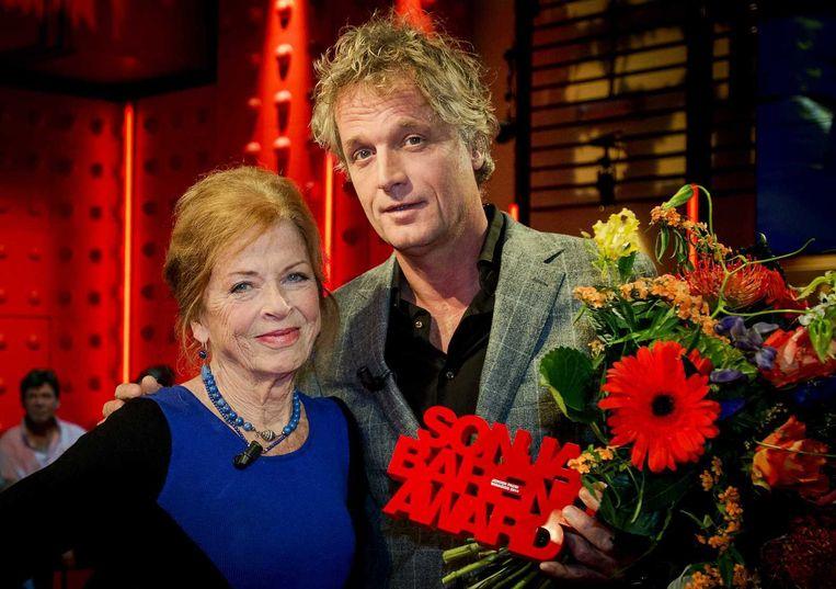 Jeroen Pauw met Sonja Barend. Beeld anp
