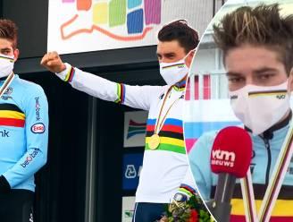 """Van Aert na tweede zilveren medaille: """"Er bestaat geen tactiek tegen Julian Alaphilippe die zo sterk is"""""""