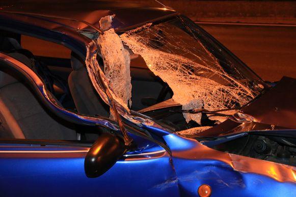 De achtervolging strandde op de E17 in Kruibeke na een ongeval in de staart van een file.