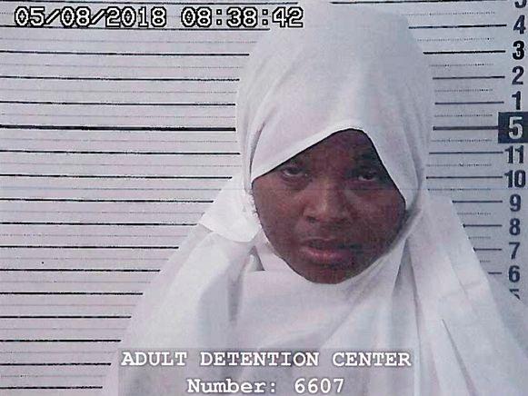 Hujrah Wahhaj, wellicht een moeder van enkele kinderen, na haar arrestatie