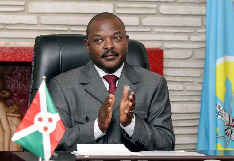 De Burundese president Pierre Nkurunziza is maandag op 55-jarige leeftijd overleden aan een hartaanval. Beeld REUTERS