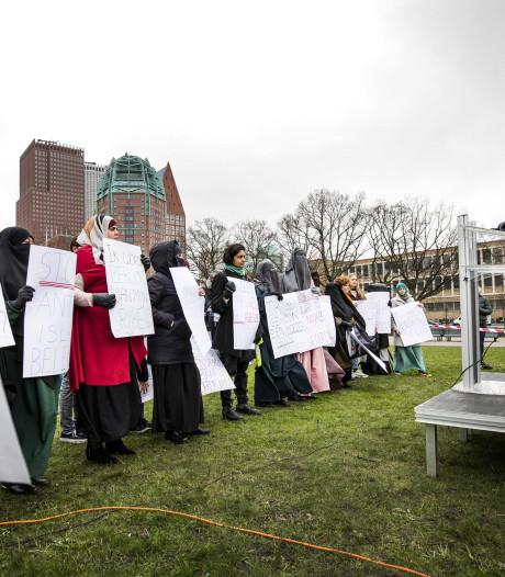 Opnieuw betoging tegen boerkaverbod: 'Onze burgerrechten worden ernstig geschaad'