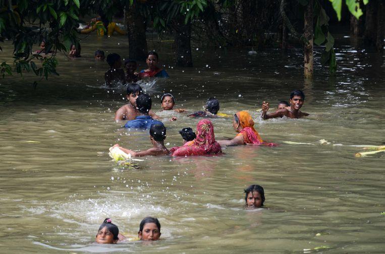 Overstromingen in India. Beeld AFP
