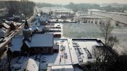FOTO-ALBUM: Dronebeelden van besneeuwd Lokeren