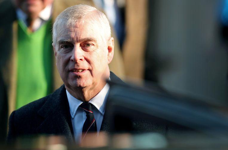 De Britse prins Andrew, tegen wie in New York een rechtszaak loopt wegens mogelijk seksueel misbruik van een 17-jarige vrouw. Beeld REUTERS