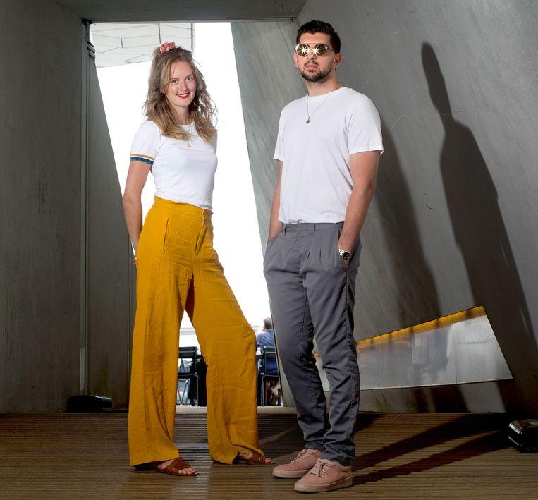 Elise Roodenburg & Soufyan El Hammouti, documakers over Mocro-mode. Beeld Maartje Geels