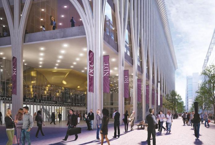 Een impressie van het nieuwe cultuurgebouw.