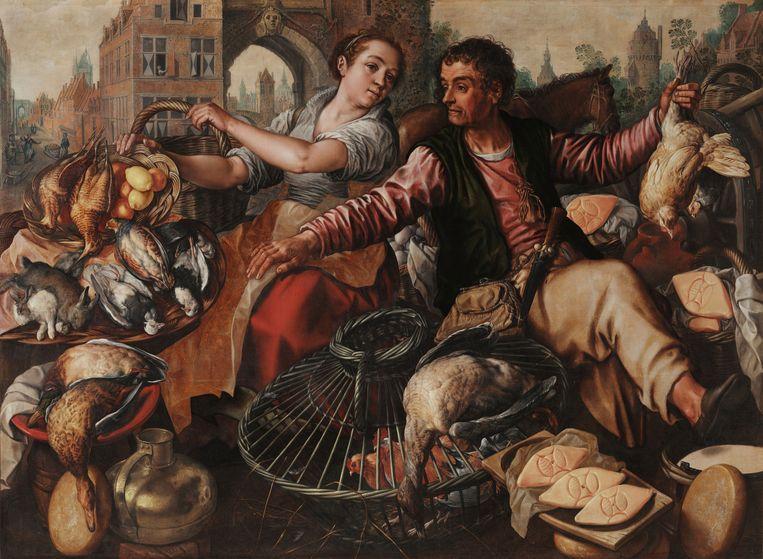 Joachim Beuckelaer, Marktverkopers met gevogelte, 1566-1570. Beeld Museo di Capodimonte